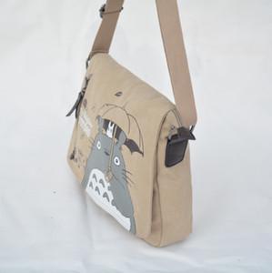 패션 토토로 크로스 바디 가방 여성 메신저 가방 캔버스 어깨 가방 만화 애니메이션 이웃 학교 편지 토트 핸드백 C0224