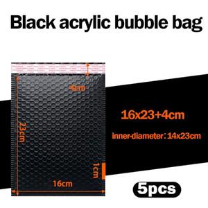 5 stücke Bubble Mailer gepolsterte Umschläge gesäumt Poly Mailer Self Seal schwarz für Buch Magazin gesäumt Mailer Self Seal Black Mailer Bag H BBYKIC