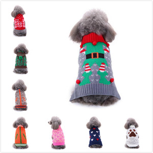 15 Styles Costumes Pet Cão de Santa do feriado do Natal Decoração roupas de festa engraçado jaquetas para Pet Hoodies GGE2131