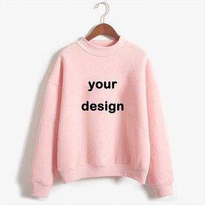2020 Customized Printed Sweatshirts Hoodies Women Your Own Design Brand Logo Picture Clothes Custom Female Sportswear Plus Size