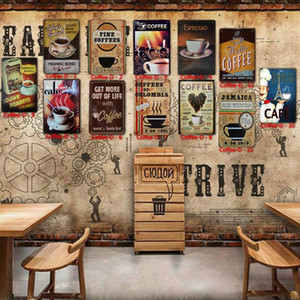 Tin Sign Vintage Wall Art Retro Painting TIN SIGN Wall Metal Painting ART Bar Restaurant Coffee House Wine Bar Home Decoration SEA GWC5257