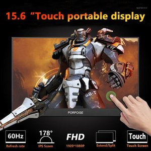 Monitors PORPOISE 15.6-inch USB 3.1 Type-C Touch Screen Portable Monitor For Ps4 Switch Phone Gaming Laptop Display1