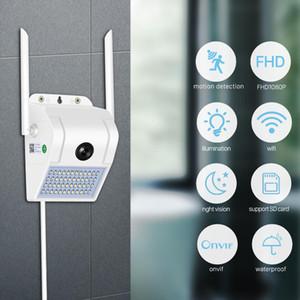 WiFi IR Night Vision 1080P Cloud HD Wall Lamp Outdoor IP Camera Body Smart Induction Garden Wireless Camera SD Card