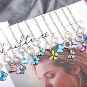 2020 New Alloy Butterfly Chain Bracelet for Women Girls Silver Plated Charm Bracelet Fashion Party Jewelry Gift