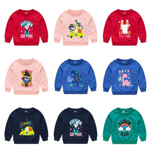 Kids Boys Girls Hoodies Cartoon Printed Sweatshirts Auntumn Hoodie Sweater Fashion Child Pullover Tops Casual Long Sleeve Clothes G12704