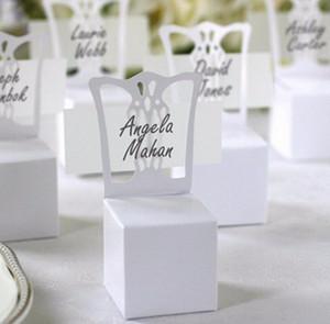 2016 Держатель Нового Председатель Place Card и Favor Box лучше для коробки конфет и свадебная коробки, вечеринки событие 50шт 41HS предметы снабжения #