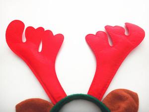Bande Natale Decorazioni di Natale Ramificazione Capelli Rossi non tessuto Deer Horn capelli della fascia di compleanno di festa per feste KKF2069