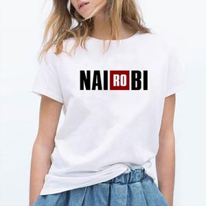 NAIROBI Letter Print Women La Casa De Papel TV Casual Tops Money Heist T shirt House of Paper T Shirt Tee
