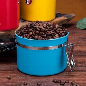 Coffee magazzino Storager Jar Storage Contenitori in acciaio inox Acciaio inossidabile Aerenthight Can Coffee Flour Zucchero Barattolo Bottiglie Cucina Organizzatore domestico Mare PPC5229