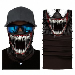 The Venom Bandana Fishing Sport 3D Seamless Headwear Skull Neck Bandanas Windproof Magic Scarf Cycling Hiking Mask Neck Gaiter BeG9#