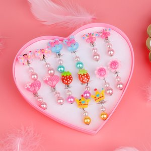 7 Pair Korean Style Creative Cartoon Animal Lovely Baby Hairpins Kitty Cat Ear Clips Kids Clip Earring for Girls