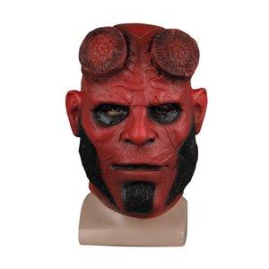 Hellboy Латекс маскарад карнавал костюм маска маски капюшон косплей маска Хэллоуин вечеринка опора