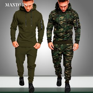 Mens New Sets Camouflage Autumn Running Casual Jogger Tracksuit Men Sweatshirt Sports Set Gym Zipper Slim Fit Male Sport Suit 1004