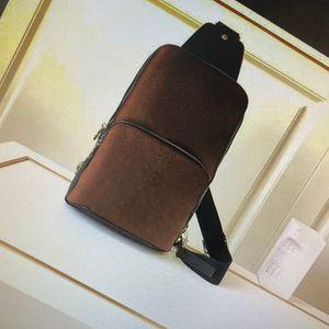 N41719 افي nue حبال حقيبة الكتف الأزياء الكلاسيكية الرجال الصدر عبر الجسم حقيبة جلد رياضي السفر عارضة حزم الدراجات في الهواء الطلق حقائب الكتف