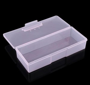 Plastic Transparent Nail Manicure Tools Storage Box Nail Dotting Drawing Pens Buffer Grinding Files Organizer Case Container Box bbyzGNs