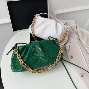 Top Quality Women Handbag Purse Lady Shoulder Bag Alligator Thick Chain Totes Fashion Party Bags Crossbody