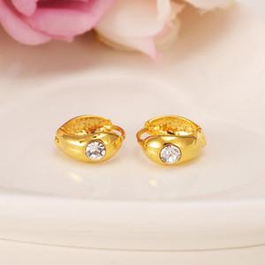 Bangrui Luxury Lovely Kid Baby Little Girls Hot sell Fashion Good Clear Crystal Stainless steel Earrings for Girl