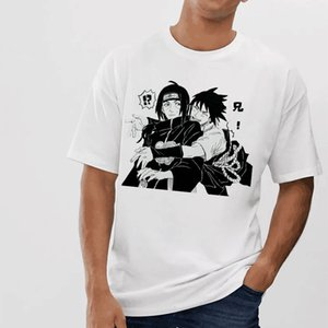 Men's basic T shirt Naruto Summer Harajuku Unisex Short Sleeve Tshirt Japanese Anime Tshirt Men Streetwear Camiseta De Hombre