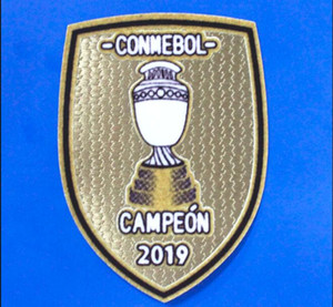 2019 Embroidery Parche Brazil Conmebol Patch De America Copa America Campeon 2019 Champions Brasil Soccer Patch Free shipping!