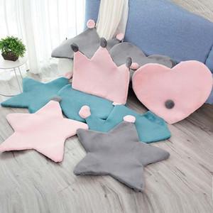 Nordic Faux Fur Short Plush Super Soft Stuffed Carpet Crown Heart Pentagram Carpet Floor Mat Home Bedroom Living Room Rug1