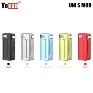 Yocan UNI S Box Mod 400mAh Battery for Oil Atomizer Adjust Dial 10s Preheat Portable Vaporizer Smaller than UNI MOD Authentic