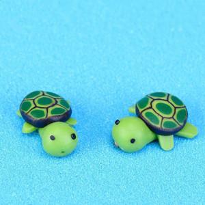 Fabbrica Artificiale Carino Green Tortoise Animali Fiaba Miniature Gnomi Gnomi Moss Terrari in resina Artigianato figurine per giardino