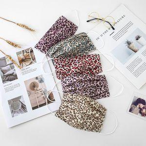 Leoparden-Druckdruck Mund Masken Sommer Männer Frauen Mode Belüftung Gesichtsmaske Outdoor Sunshade staubdicht 2 3wsa j2