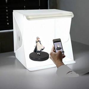 Mini Pieghevole Lightbox Fotografia Studio fotografico Studio softbox 2 Pannello LED Light Box Soft Box Sfondo Sfondo Casella luminosa per fotocamera DSLR