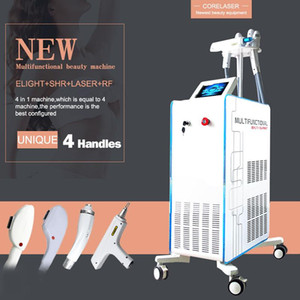 Professional 4 IN 1 Nd Yag Laser Tattoo Removal Machine IPL Laser OPT SHR fast hair removal treatments beauty equipment