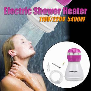 5400W 110V / 220V Calentador eléctrico de ducha Calentador de agua del grifo del baño calentamiento instantáneo Calentador de Agua Verde / Rosa