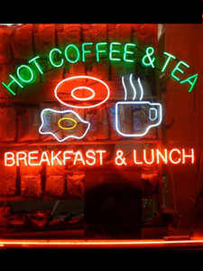 Neon Sign Hot coffee Tea Breakfast Lunch Beer bar club Lamps resterant light Hotel store DISPLAY BUSINESS Impact Attract light