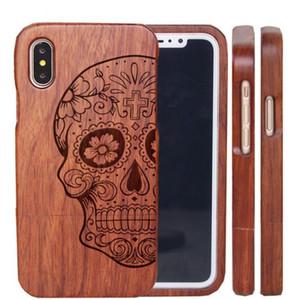 Capa de telefone de madeira para o iPhone da Apple Genuine Natural madeira real rígido Capa para iPhone 6 6S 7 8 Plus X XR XS 11 Pro MAX