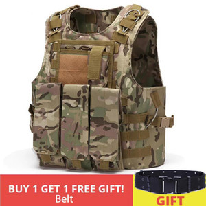 Mens Tactical Vest Molle assalto do combate placa de suporte Tactical Vest caça multifuncional soldado Coletes de combate