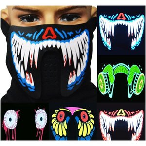 1pcs Fashion Cool Led Luminous Flashing Half Face Mask Party Event Masks Light Up Dance Co jllxDW mx_home
