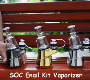 100% Original G9 SOC Enail Kit Wax Vaporizer 2800mAh TC Vape Mod 3pcs Ceramic Quartz Carbon Bowl Wax Atomizer Glass Bong Dab Rig E cig Kits