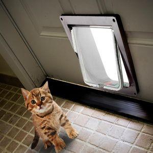 Kimpets perro con cierre de seguridad para mascotas Cat Flap Puertas Puertas Rampas universal para todo el tamaño