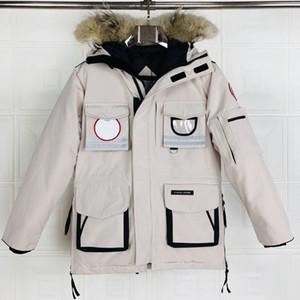 مصمم 9501 معاطف أبيض أسود الملابس ستر حقيقية مصمم YKK رياضة أسفل رجل إمرأة الفيلكرو عرضي حجم XS-XXL