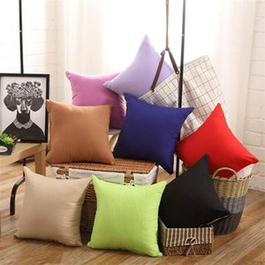Newest Pillowcase Pure Color Polyester White Pillow Cover Cushion Decor Pillow Case Blank Christmas Gift 45 * 45CM IB273