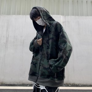 Camouflage Hoodies Men 2020 New Fashion Sweatshirt Male Camo Hoody Hip Autumn Winter Military Hoodie Mens Clothing Korean Tops