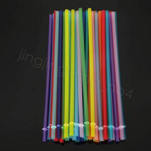 24CM PP القش بلاستيكية ملونة قابلة لإعادة الاستخدام شريط شرب عصير كوب حزب ديكور المنزل الشرب القش CYF4479-4