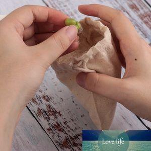 1Pcs Frucht-Gemüse-Reis Grocery Shopper-Tasche Kundenspezifische Baumwollleinen Kordelzug Speicher-Beutel Startseite