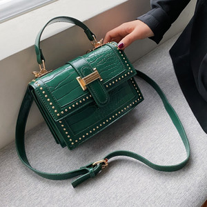 Rivets PU Leather Crossbody Bags For Women 2020 Fashion Shoulder Simple Bag Female Travel Handbags and Purses C1008
