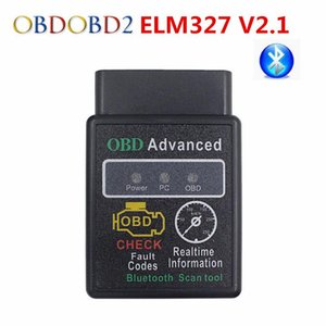 Latest ELM327 Bluetooth V2.1 OBD Scan Tool Mini ELM 327 OBDII OBD2 CAN-BUS Diagnostic Scanner For Android Torque Windows