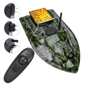 Camouflage RC Boot 500m Fernbedienung Wireless Fishing Lure Köder Boot Fischfinder mit LED Nachtlicht Radio Control Speedboat 201204