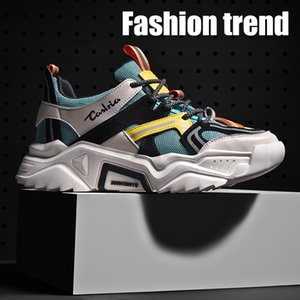 Times New Roman Fashion Spring Breathable Unisex Casual shoes Lightweight Men Chunky Sneakers Adult Man Footwear size 36~44 201019