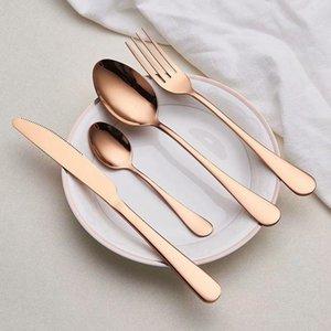 Spklifey Золотая посуда набор свадебные Золотые туристические столовые приборы набор из нержавеющей стали Ужин для ужин вилка Scoops Silverware оптом h jlltwa