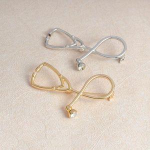 Creative Doctor Nurse Stethoscope Brooch Badge Jewelry Hard Enamel Pin Collection Skirt Collar Decor Handbag Jacket Denim Hat Accessory
