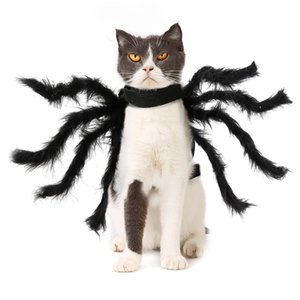 New Halloween Pet Clothes Simulation Black Spider Puppy Costume For Dogs Cats Party Cosplay Funny Cat Outfit