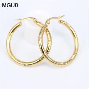 Диаметр 20-50мм круг Малый обруч серьги с золотой цвет Простые серьги для женщин из нержавеющей стали Jewelryy LH819