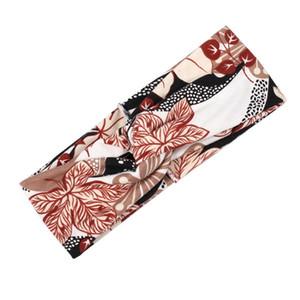 Coreano Multicolor Tie Dye Stampa Tipo di stampa Twist Cross Headband Sport Yoga Turban Fandbands largo Accessori per copricapo elastici e elastici Q SQCTWM